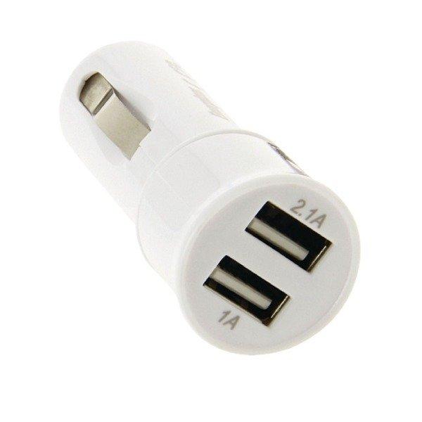 Apple iPhone 6 6s 7 ładowarka samochodowa Energizer Ultimate 3.1A 2xUSB biała