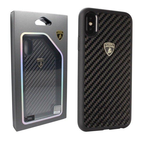 size 40 09037 a561c Apple iPhone X etui Automobili Lamborghini Carbon Fiber Case Elemento D3 -  czarne