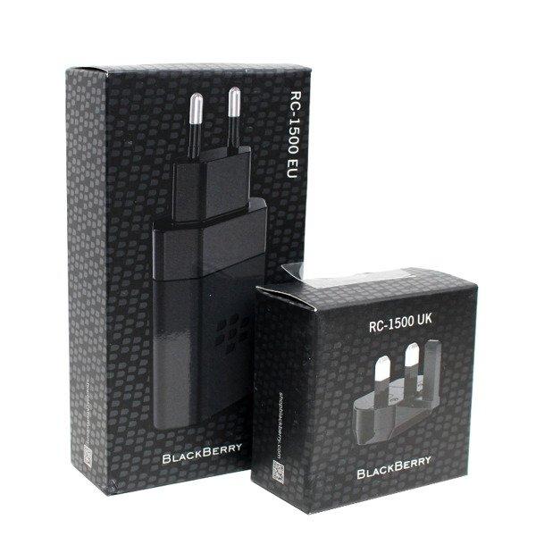BlackBerry RC 1500 ładowarka sieciowa Quick Charge 2.0 z adapterami EU i UK czarna