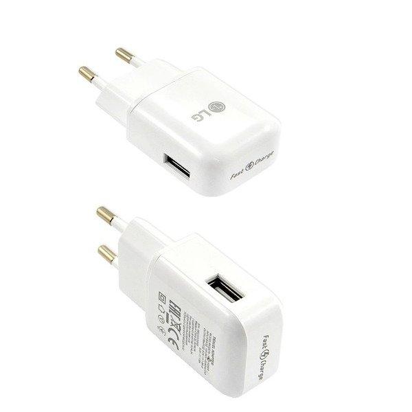 LG MCS H06ED ładowarka sieciowa Fast Charge 1.8A biała