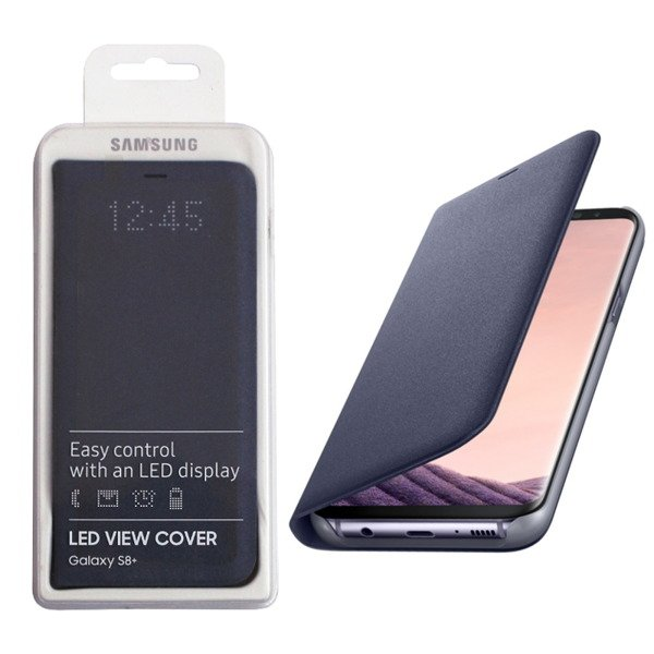 8200e0bcf ... Samsung Galaxy S8 Plus etui LED View Cover EF-NG955PVEGWW - fioletowe  (Orchid Gray ...