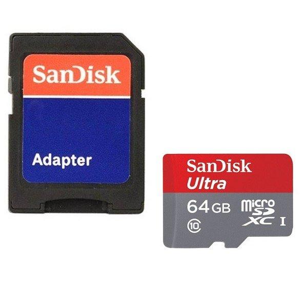 Sandisk Ultra Karta Pamieci 64gb Microsdxc Z Adapterem Sd Klasa 10