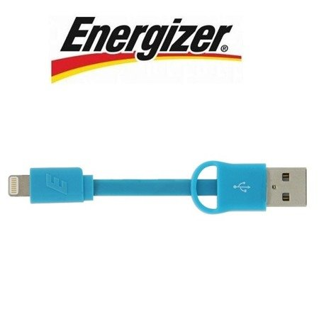Apple iPhone kabel-brelok Lightning Energizer HighTech 8 cm - niebieski