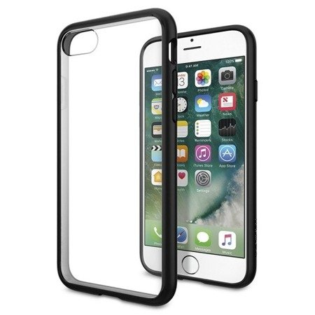 Apple iPhone 7/ 8/ SE 2020 etui Spigen Ultra Hybrid 042CS20446 - transparentne z czarną ramką