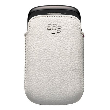 BlackBerry 9320/ 9310/ 9220 wsuwka Leather pocket ACC-48097-202 - biała