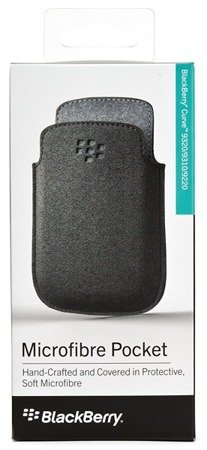 BlackBerry 9320/ 9310/ 9220 wsuwka Microfibre Pocket ACC-46639-203 - czarna
