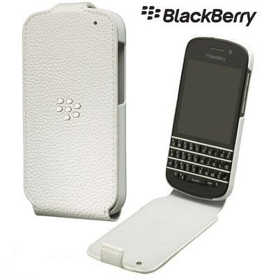 BlackBerry Q10 etui Leather Flip Shell ACC-50707-202 - biały