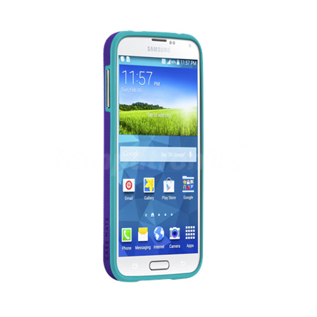 Case-Mate Samsung Galaxy S5 etui Tough CM030879 - fioletowo-turkusowe