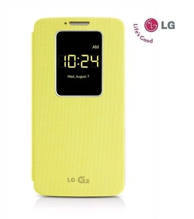 LG G2 etui Quick Window Case CCF-240G - żółty