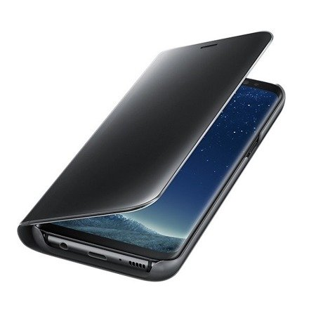 Oryginalne etui Clear View Standing Cover Samsung Galaxy S8 - czarny
