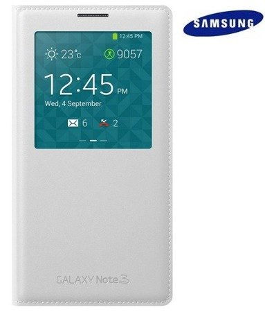 Samsung Galaxy Note 3 etui S View Cover EF-CN900BW - biały
