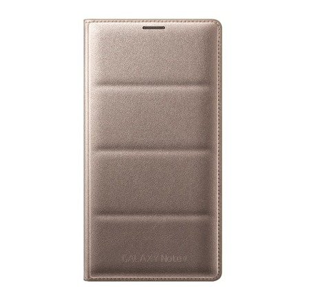Samsung Galaxy Note 4 etui Flip Wallet EF-WN910BE - złoty