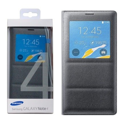 Samsung Galaxy Note 4 etui S View Cover EF-CN910BC - grafitowy