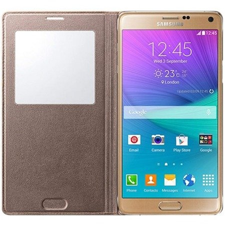 Samsung Galaxy Note 4 etui S View Cover EF-CN910BE - złoty