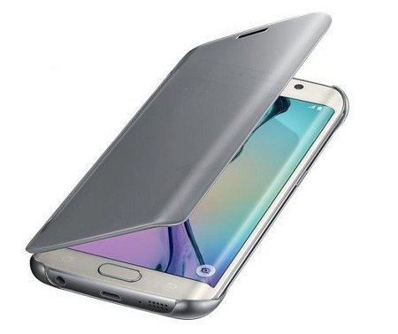Samsung Galaxy S6 edge etui Clear View Cover EF-WG925BSE - srebrny