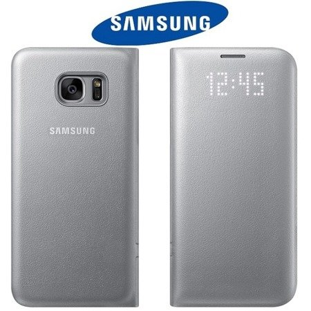 Samsung Galaxy S7 edge etui LED View Cover EF-NG935PSEGWW - srebrny