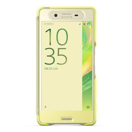 Sony Xperia X etui dotykowe Style Cover Touch SCR50  - limonkowe